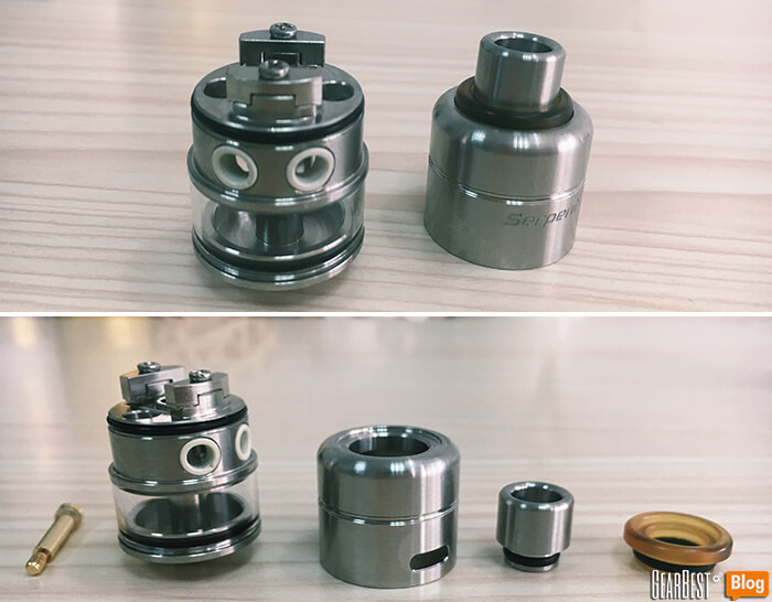 Wotofo Serpent RDTA interior disassemble