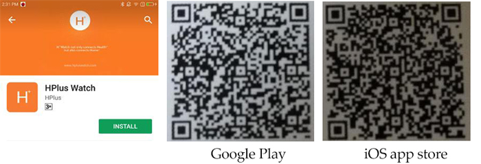 HPlus Watch App and the QR code