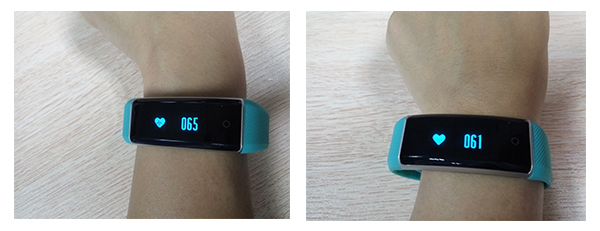 Zeblaze ZeBand wristband measures heart rate successfully