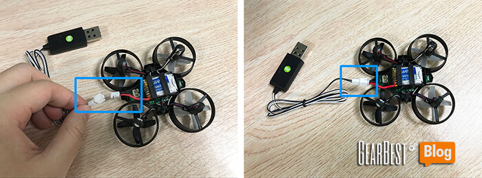 charge JJRC H36 through USB cable