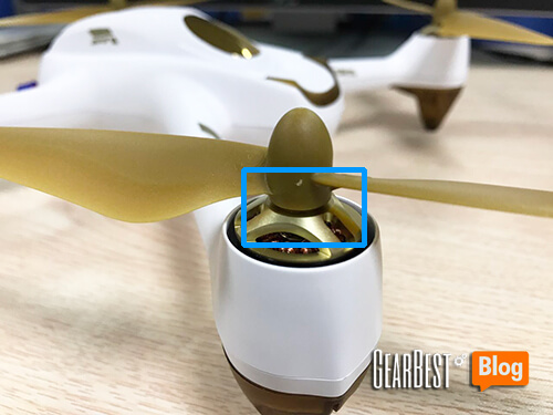install Hubsan H501S X4's propeller too tight