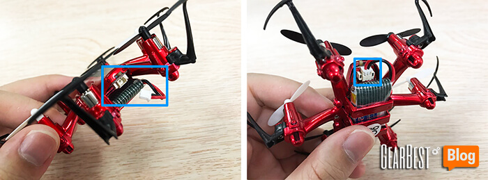 check JJRC H20 hexacopter's battery cable