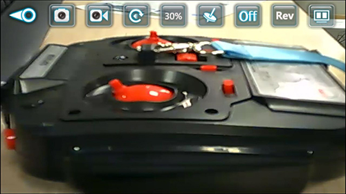 real-time image/video captured by SKRC D20W quadcopter