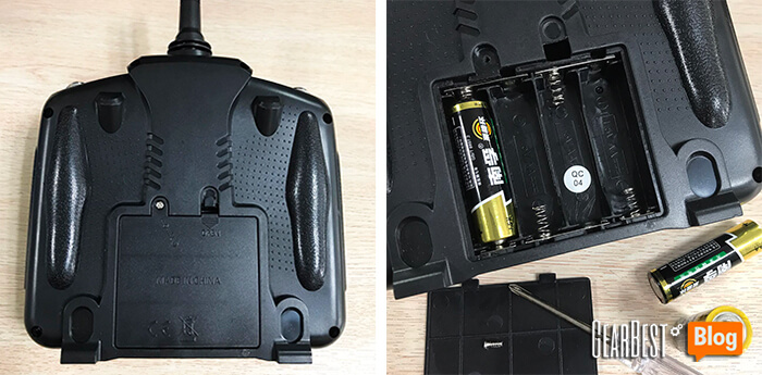 change new battery for JXD 509W quadcopter's transmitter