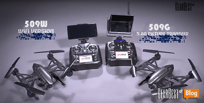difference of transmitters of JXD 509W and 509G quadcopter