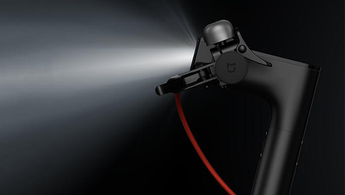 headlight of Xiaomi M365 folding electric scooter