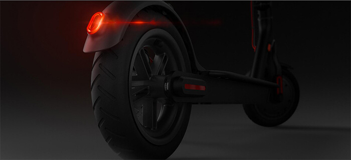 warning tail light of Xiaomi M365 folding electric scooter