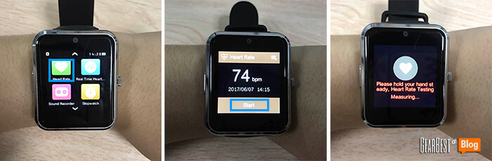 How to use Haier Iron smart watch's heart rate detection feature