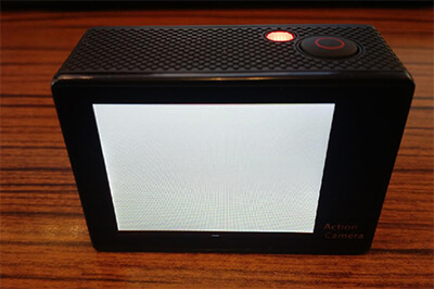 EKEN H9 action camera's screen becomes white