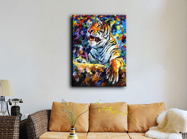 passionately colorful oil painting