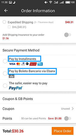 Two payment methods added for Brazil customers