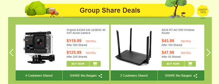 Group Share Deals - Share to Lower the Price