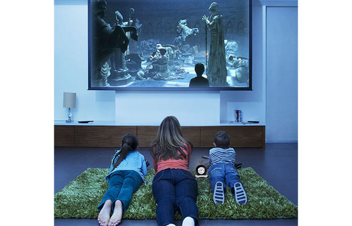 Haier iSee Mini Projector for family