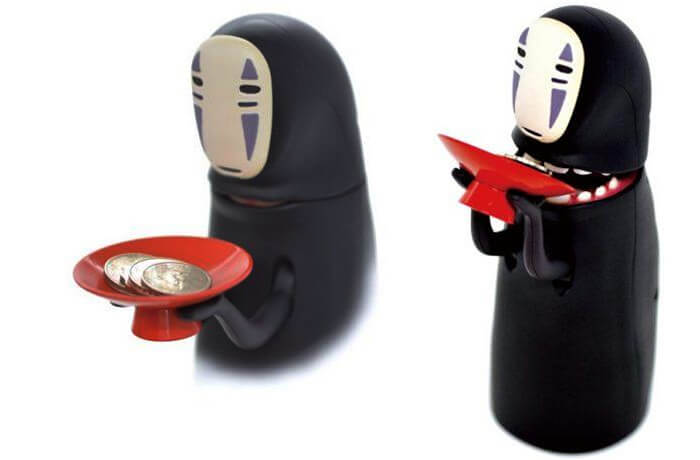 No Face Male Style Gravity Induction Piggy Bank