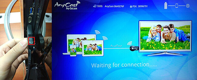 AnyCast M2 Miracast TV dongle cast screen list