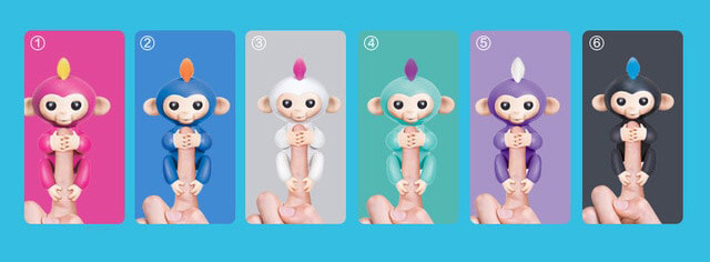 fingerling monkeys with 6 cool colors