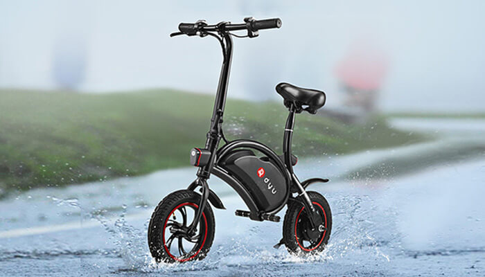 the waterproof DYU electric bike