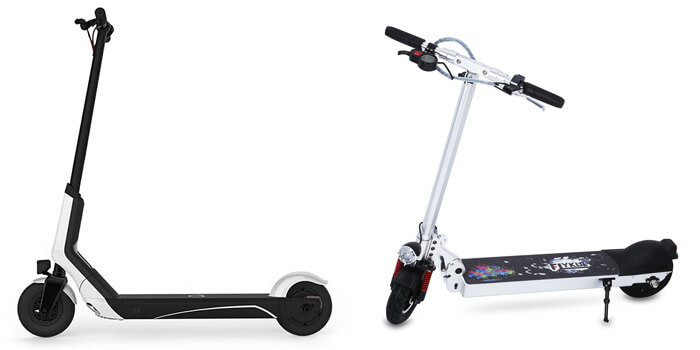 Xiaomi EUNI ES808 electric scooter and the Flykul Mini Scooter