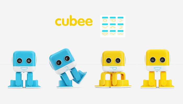 the cute facial expressions of TurBowing Cubee F9 Robot