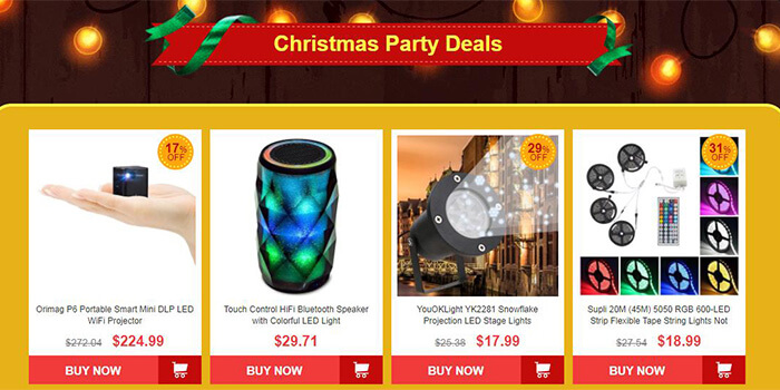 christmas party deals