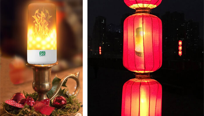 the desk lamp and lantern lighting function of YWXLight LED Flame Effect Light Bulb