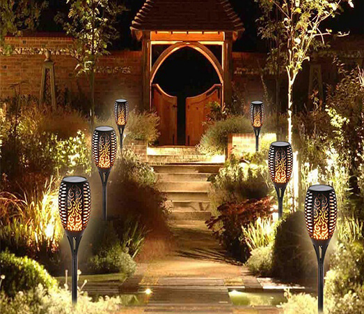 the solar powered light is environmentally friendly and energy saving and thus a great way to go into the new year