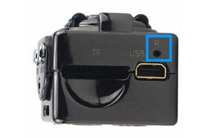 how to reset SQ8 mini car DVR