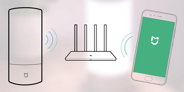 the Wi-Fi connection of Xiaomi Mijia Bedside Lamp