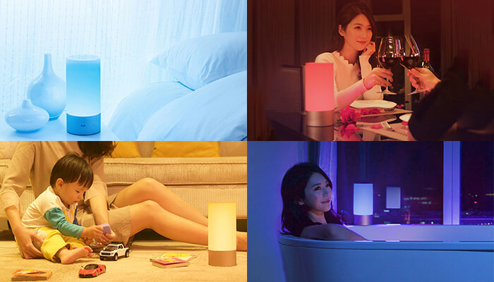 the 1700K - 6500K color temperature of Xiaomi bedside Lamp is suitable for many scenes