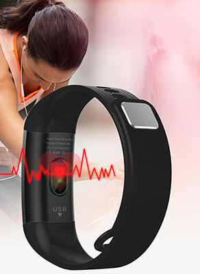 heart rate monitor of Alfawise S9 Smart Wristband