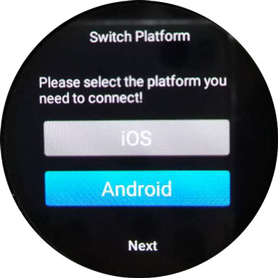 Pair KingWear KW88 smartwatch with Android / iOS phone
