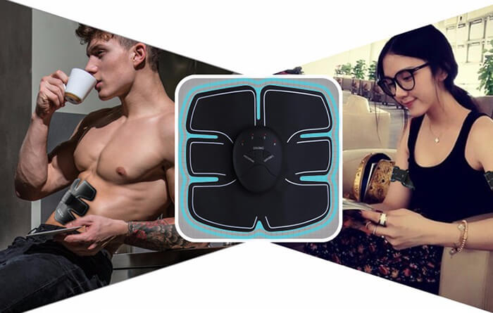 the EMS Muscle Stimulator can be used anywhere anytime
