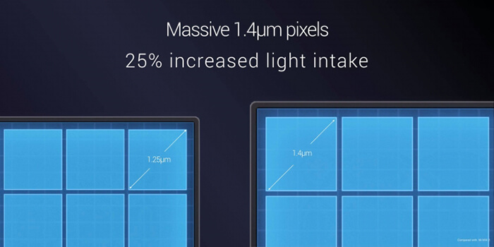 the massive 1.4μ pixels of Xiaomi Mi Mix 2S camera